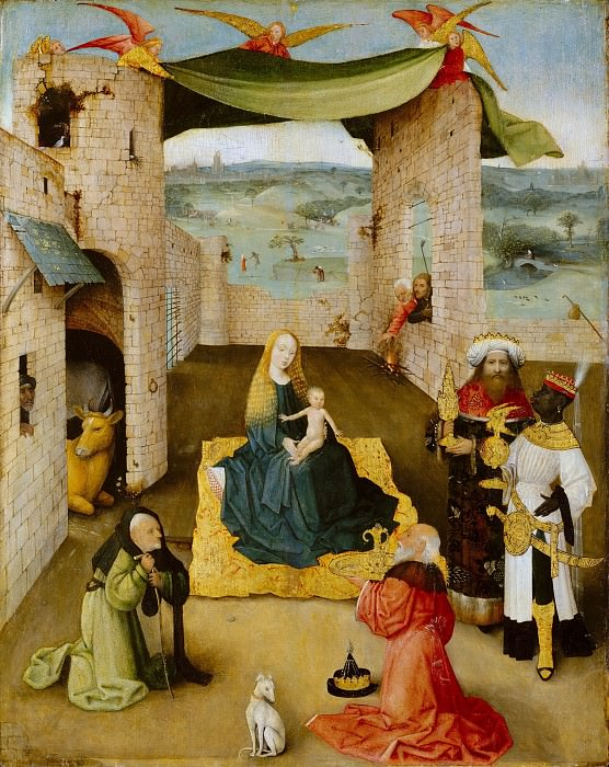 Hieronymus Bosch - The Adoration of the Magi. Metropolitan Museum: part 2