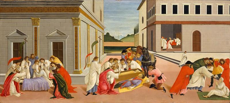 Botticelli (Italian, Florence 1444/45–1510 Florence) - Three Miracles of Saint Zenobius. Metropolitan Museum: part 2