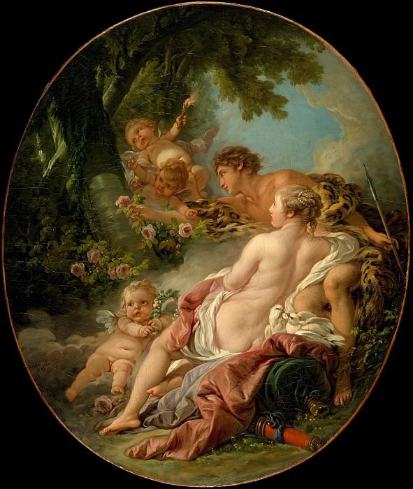 Angelica and Medoro. Francois Boucher