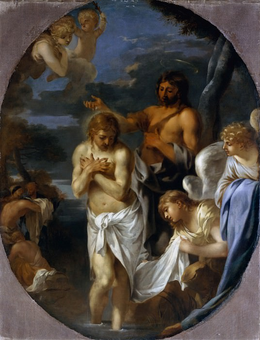 Sébastien Bourdon - The Baptism of Christ. Metropolitan Museum: part 2