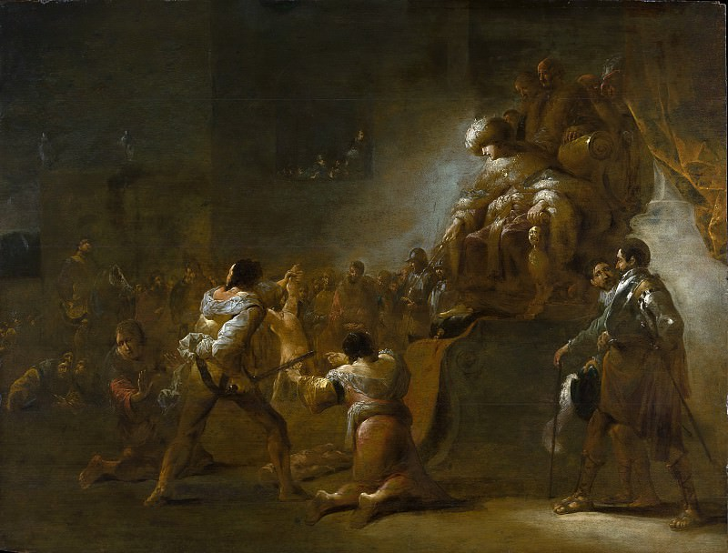 Leonaert Bramer - The Judgment of Solomon. Metropolitan Museum: part 2