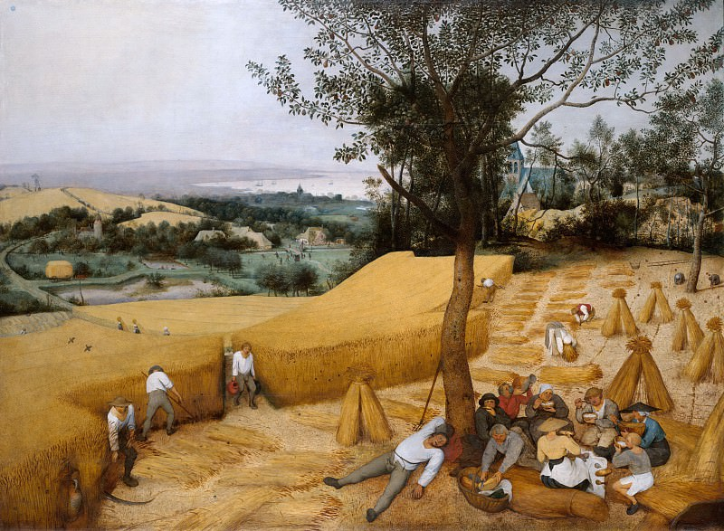 Pieter Bruegel the Elder ca. 1525–1569 Brussels) - The Harvesters. Metropolitan Museum: part 2