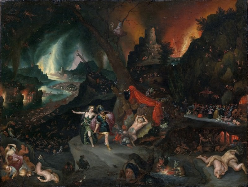Aeneas and the Sibyl in the Underworld. Jan Brueghel the Younger