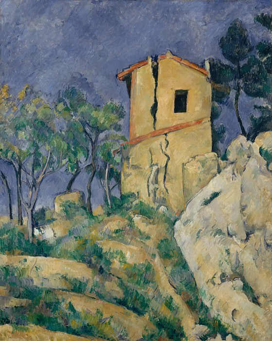 Paul Cézanne - The House with the Cracked Walls. Metropolitan Museum: part 2