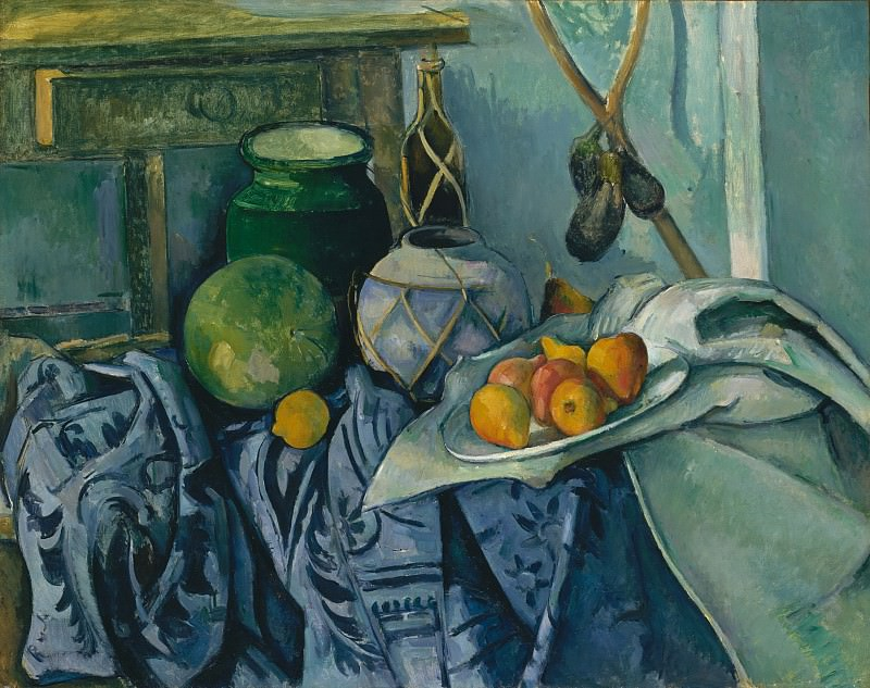 Paul Cézanne - Still Life with a Ginger Jar and Eggplants. Metropolitan Museum: part 2