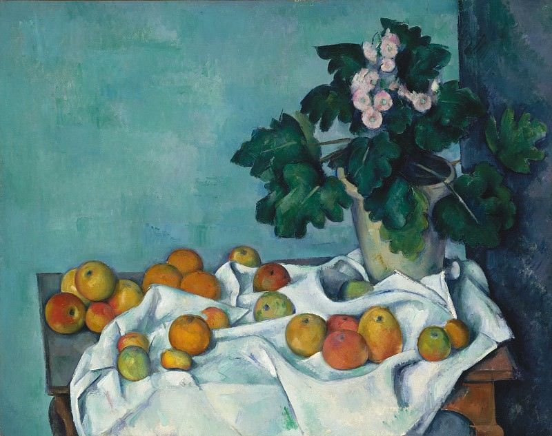 Paul Cézanne - Still Life with Apples and a Pot of Primroses. Metropolitan Museum: part 2
