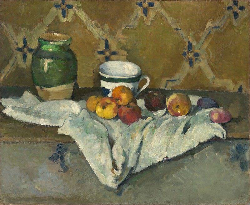 Paul Cézanne - Still Life with Jar, Cup, and Apples. Metropolitan Museum: part 2