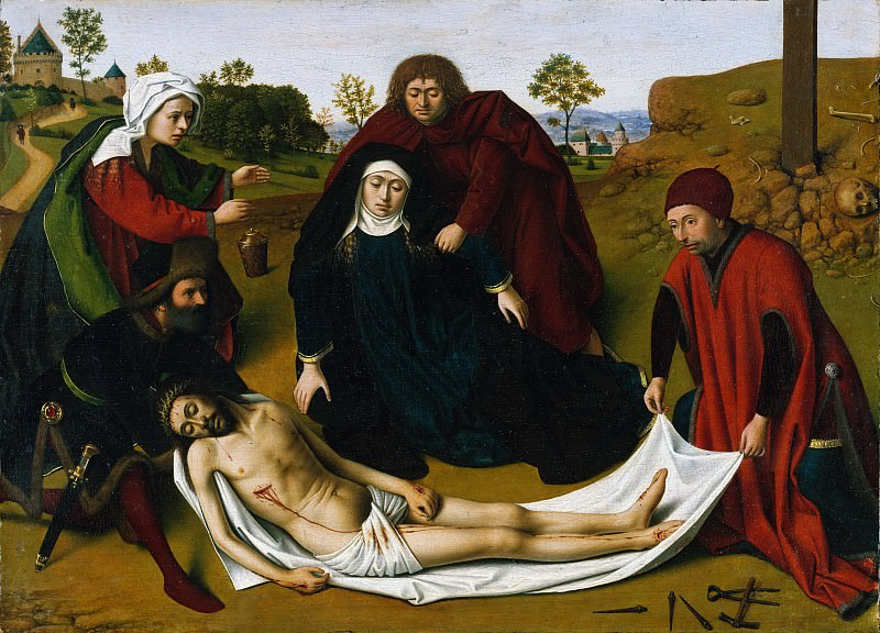 Petrus Christus - The Lamentation. Metropolitan Museum: part 2