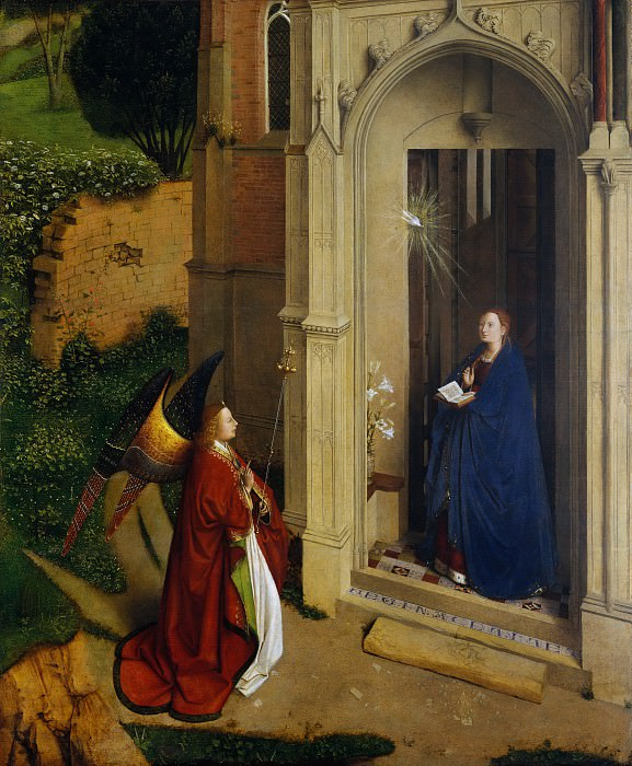 Attributed to Petrus Christus - The Annunciation. Metropolitan Museum: part 2