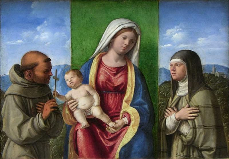 Cima da Conegliano (Italian, Conegliano ca. 1459–1517/18 Venice or Conegliano) - Madonna and Child with Saints Francis and Clare. Metropolitan Museum: part 2