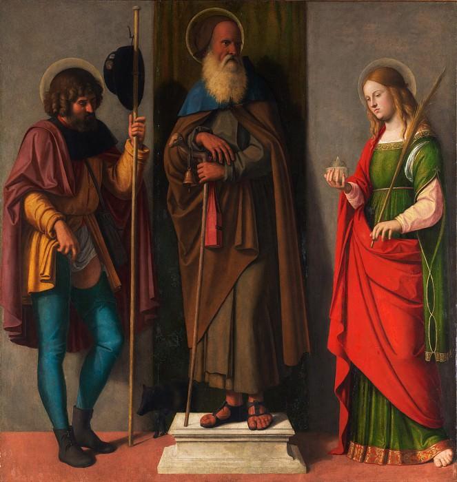 Cima da Conegliano (Italian, Conegliano ca. 1459–1517/18 Venice or Conegliano) - Three Saints: Roch, Anthony Abbot, and Lucy. Metropolitan Museum: part 2