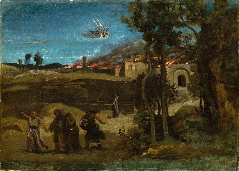 Camille Corot - Study for The Destruction of Sodom. Metropolitan Museum: part 2