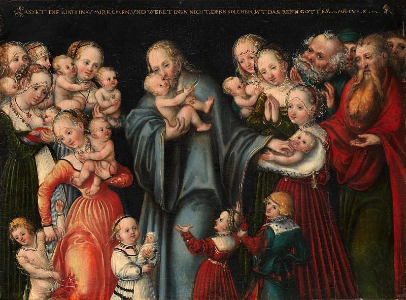 Lucas Cranach the Younger and Workshop - Christ Blessing the Children. Metropolitan Museum: part 2