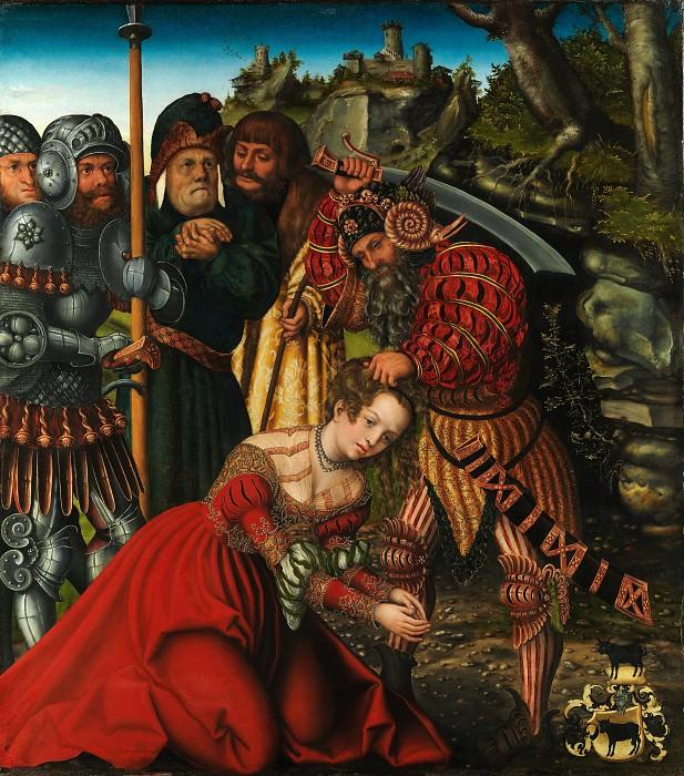 Lucas Cranach the Elder - The Martyrdom of Saint Barbara. Metropolitan Museum: part 2