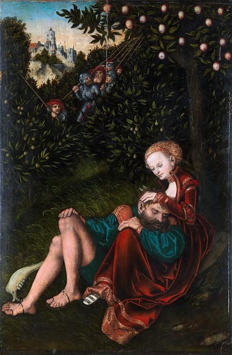 Lucas Cranach the Elder - Samson and Delilah. Metropolitan Museum: part 2