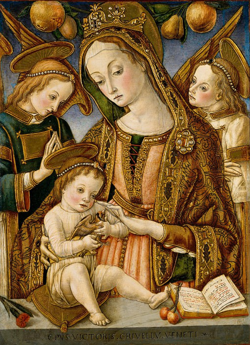 Vittore Crivelli - Madonna and Child with Two Angels. Metropolitan Museum: part 2