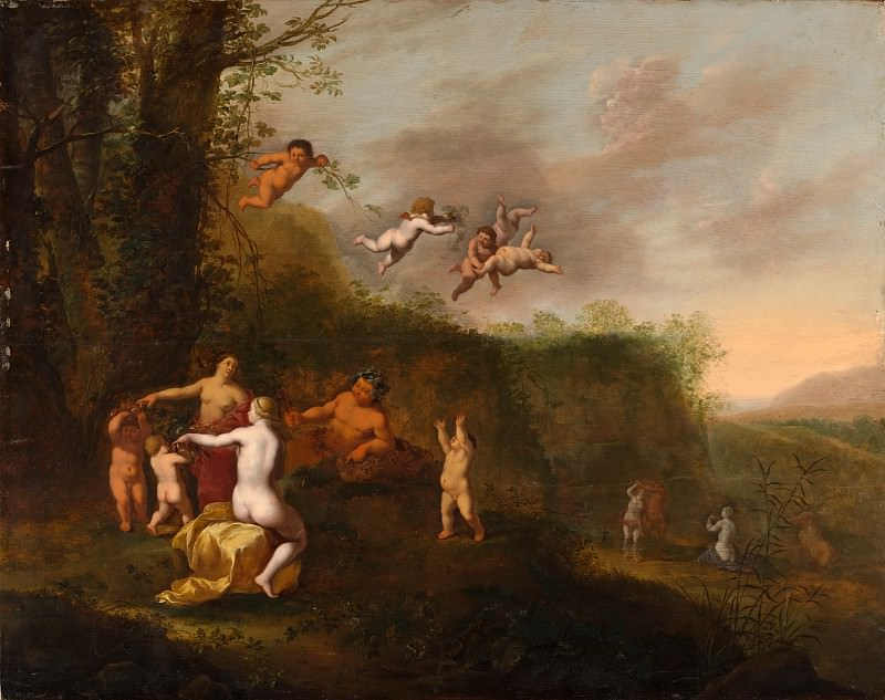 Abraham van Cuylenborch - Bacchus and Nymphs in a Landscape. Metropolitan Museum: part 2