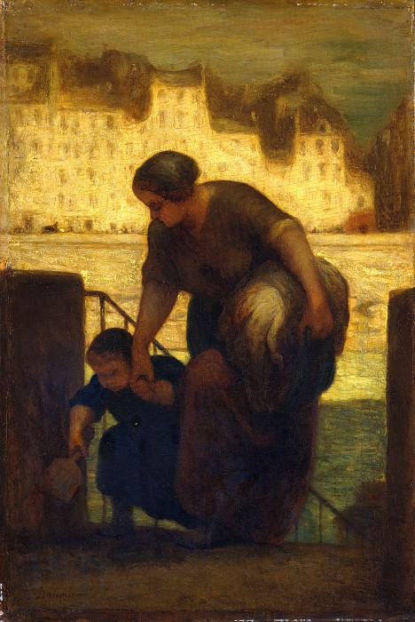 Honoré Daumier - The Laundress. Metropolitan Museum: part 2