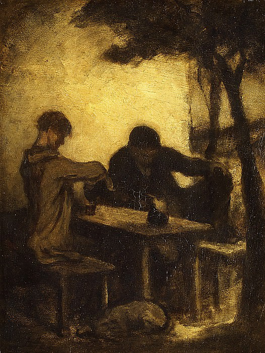 Honoré Daumier - The Drinkers. Metropolitan Museum: part 2
