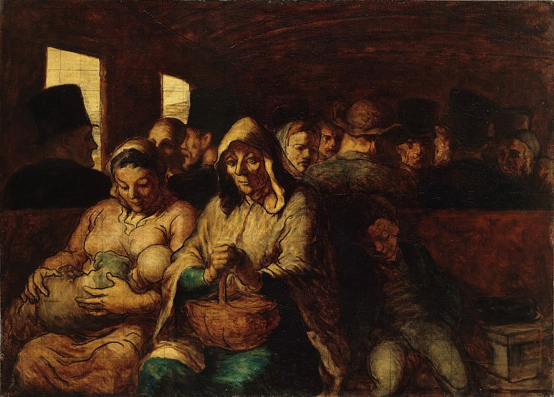 Honoré Daumier - The Third-Class Carriage. Metropolitan Museum: part 2