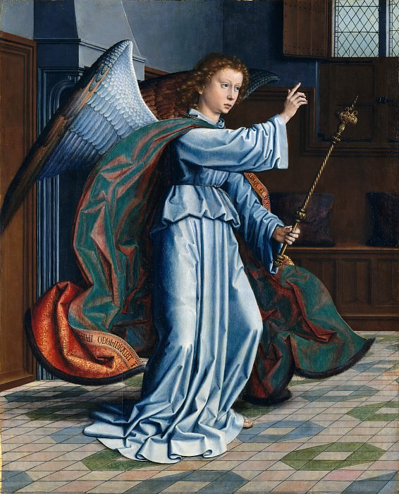 Gerard David - The Annunciation. Metropolitan Museum: part 2