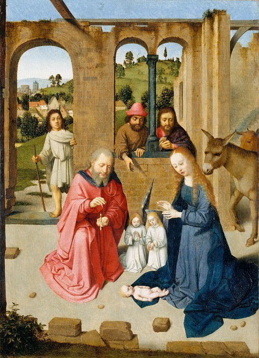 Gerard David - The Nativity. Metropolitan Museum: part 2