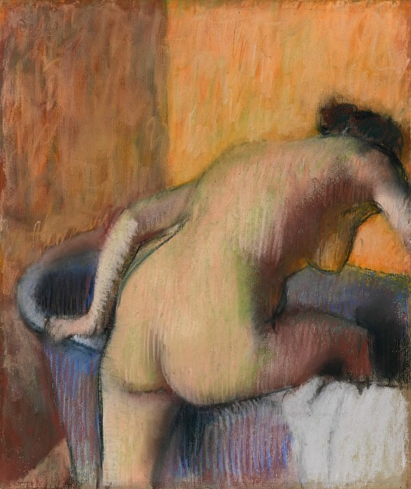 Edgar Degas - Bather Stepping into a Tub. Metropolitan Museum: part 2