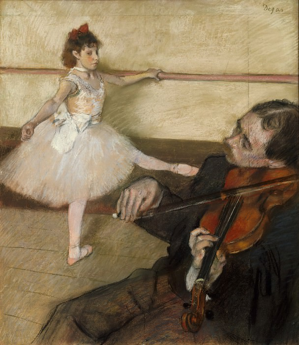 Edgar Degas - The Dance Lesson. Metropolitan Museum: part 2