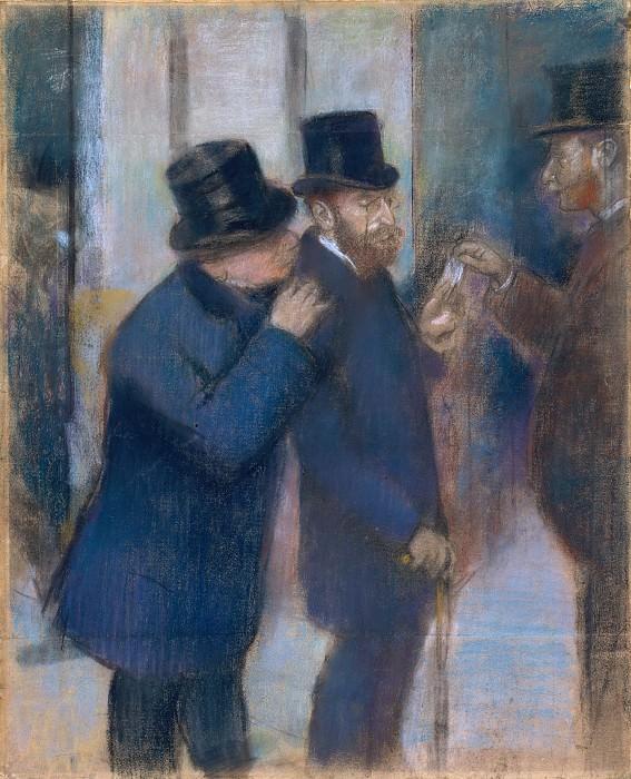 Edgar Degas - Portraits at the Stock Exchange. Metropolitan Museum: part 2