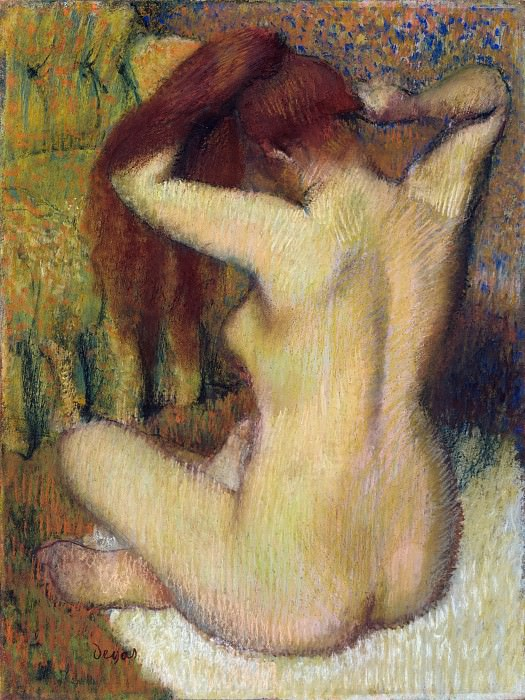 Edgar Degas - Woman Combing Her Hair. Metropolitan Museum: part 2