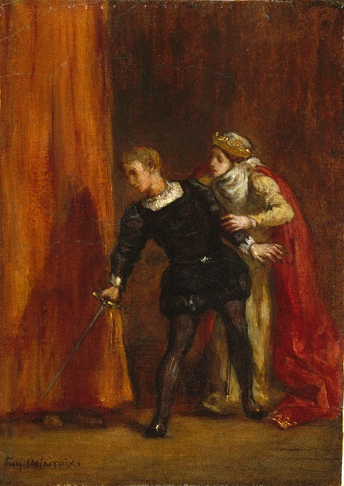 Eugène Delacroix - Hamlet and His Mother. Metropolitan Museum: part 2