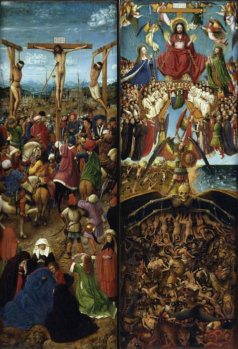 The Crucifixion, The Last Judgment (Jan van Eyck and Workshop). Jan van Eyck