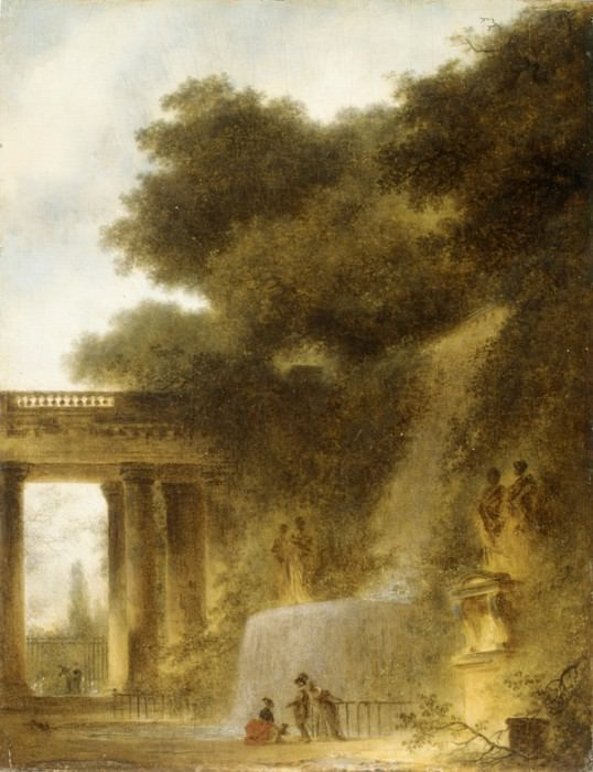 Jean Honoré Fragonard - The Cascade. Metropolitan Museum: part 2
