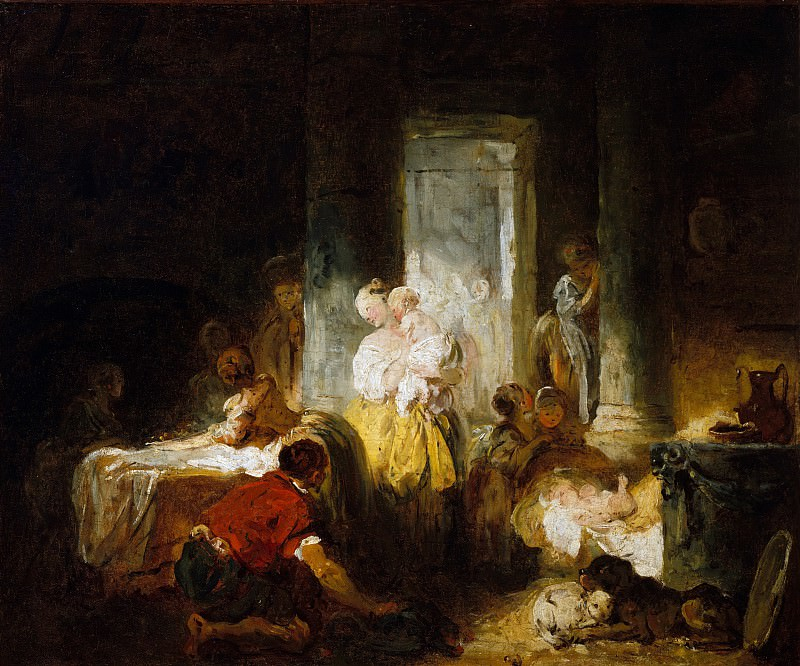 The Happy Mother. Jean Honore Fragonard