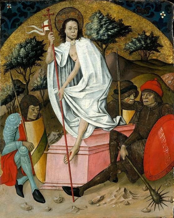 Spanish Painter, mid-15th century - The Resurrection. Metropolitan Museum: part 2