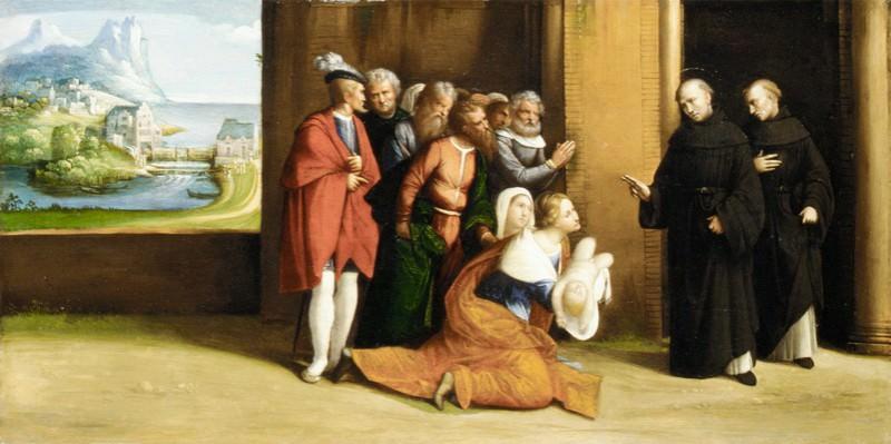 Garofalo (Italian, Ferrara 1481–1559 Ferrara) - Saint Nicholas of Tolentino Reviving a Child. Metropolitan Museum: part 2