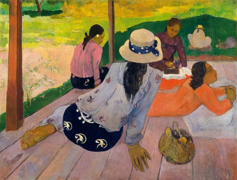 Paul Gauguin - The Siesta. Metropolitan Museum: part 2