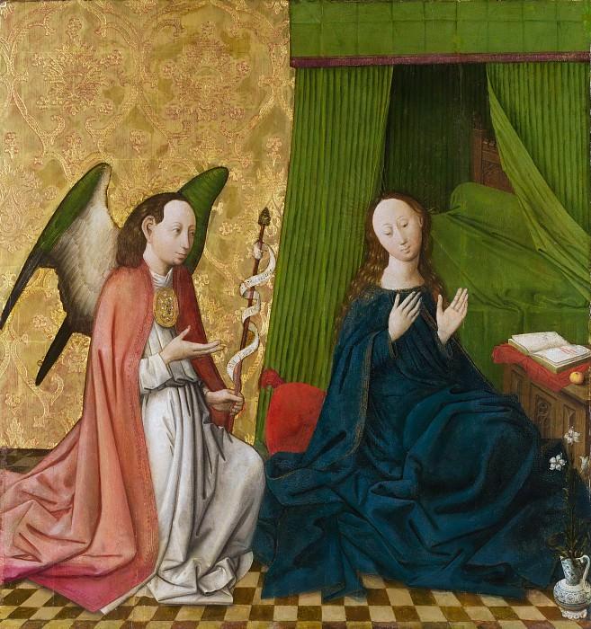 South German Painter, mid-15th century - The Annunciation. Metropolitan Museum: part 2