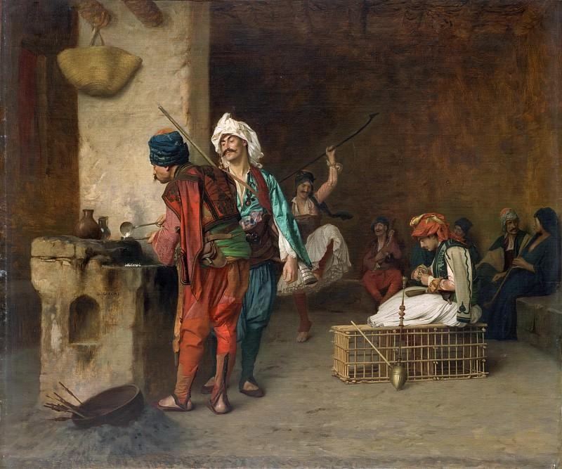 Jean-Léon Gérôme - Cafe House, Cairo (Casting Bullets). Metropolitan Museum: part 2