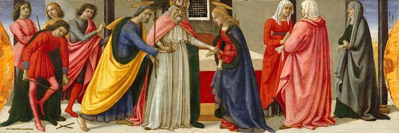Davide Ghirlandaio (Italian, Florence 1452–1525 Florence) - The Marriage of the Virgin. Metropolitan Museum: part 2