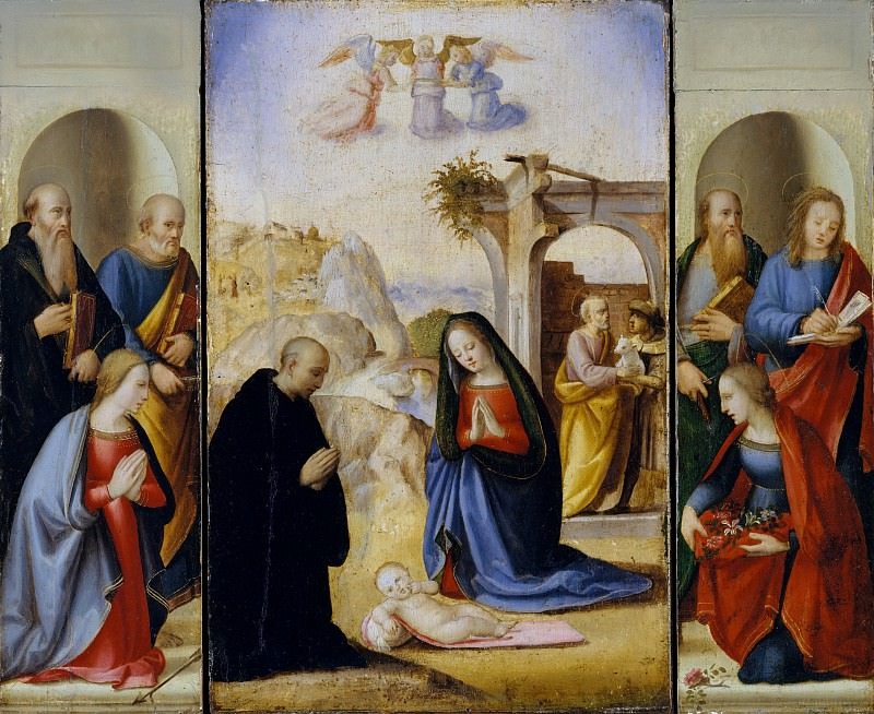 Ridolfo Ghirlandaio - The Nativity with Saints. Metropolitan Museum: part 2