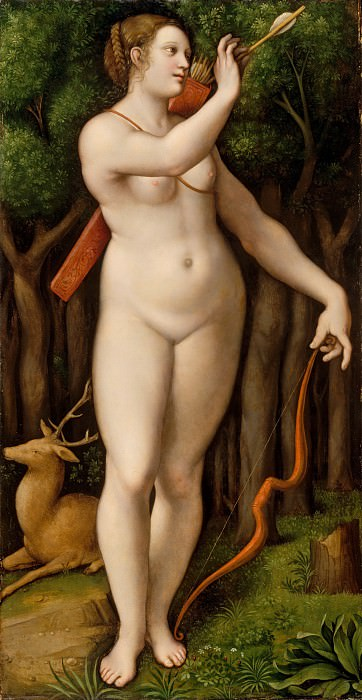 Giampietrino (Italian, Milanese, active by ca. 1495–died 1553) - Diana the Huntress. Metropolitan Museum: part 2
