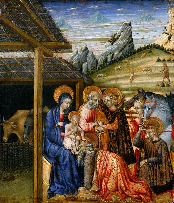 Giovanni di Paolo (Italian, Siena 1398–1482 Siena) - The Adoration of the Magi. Metropolitan Museum: part 2