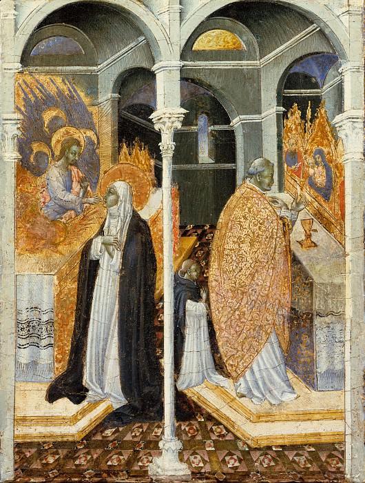Giovanni di Paolo (Italian, Siena 1398–1482 Siena) - The Miraculous Communion of Saint Catherine of Siena. Metropolitan Museum: part 2