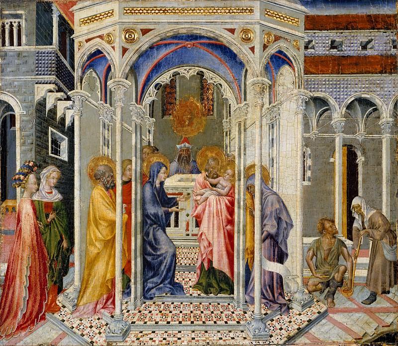 Giovanni di Paolo (Italian, Siena 1398–1482 Siena) - The Presentation of Christ in the Temple. Metropolitan Museum: part 2