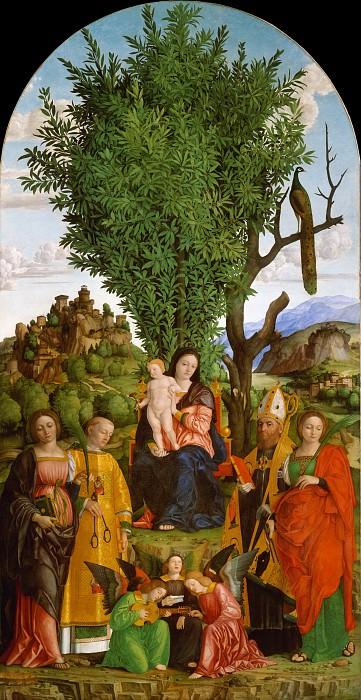 Girolamo dai Libri - Madonna and Child with Saints. Metropolitan Museum: part 2