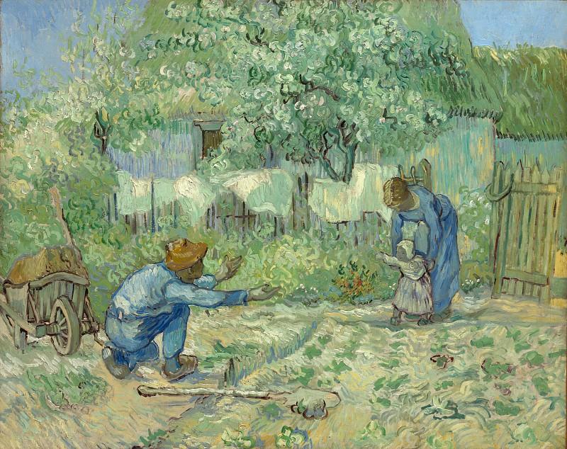 First Steps (after Millet). Vincent van Gogh