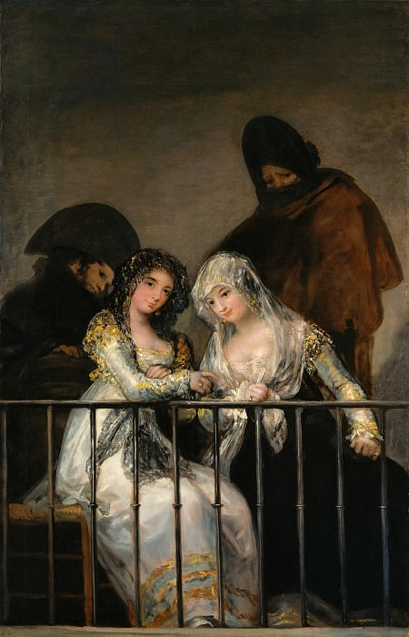 Attributed to Goya (Spanish, Fuendetodos 1746–1828 Bordeaux) - Majas on a Balcony. Metropolitan Museum: part 2