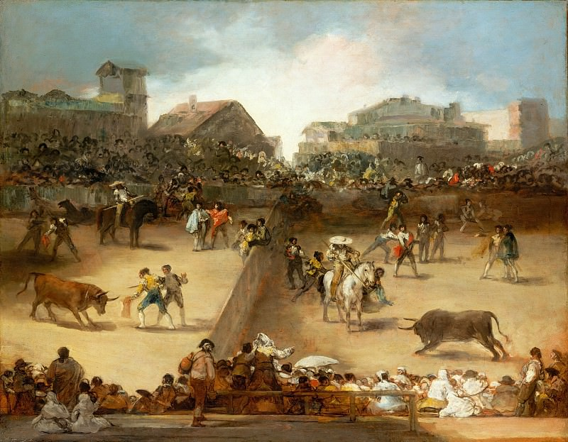 Attributed to Goya (Spanish, Fuendetodos 1746–1828 Bordeaux) - Bullfight in a Divided Ring. Metropolitan Museum: part 2
