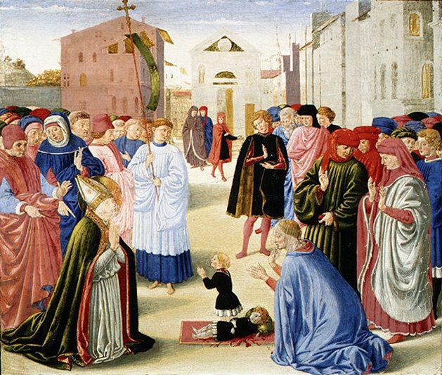 Benozzo Gozzoli (Italian, Florence ca. 1420–1497 Pistoia) - Saint Zenobius Resuscitating a Dead Child. Metropolitan Museum: part 2